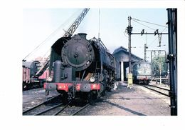 Cpm - TRAIN - Locomotive à Vapeur 141 R 265 - Grue Plein De Charbon - Dépot De MORET LES SABLONS - 1966 - Trains