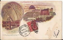 9332. CPA ETATS-UNIS ILLUSTRATEUR SAN FRANCISCO GREAT TELESCOPE 1906 - San Francisco