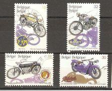 Belgique - 1995 - Motos Anciennes - Série Complète° 2615/18 - Minerva 1908 - FN 1913 - Mondiale 1929 - Gillet 1937 - Oblitérés