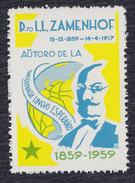 Zamenhof 1859-1959 Esperanto, Label, MNH (**) - Esperánto