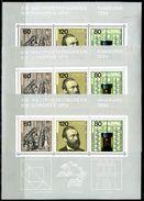A00-18) BRD - 3x Michel Block 19 = 1215 / 1217 - ** Postfrisch - Weltpostkongreß - [7] West-Duitsland