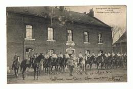 LILLE. 6ème Régiment De Chasseurs. Le Départ Pour La Manœuvre 1910 - Lille