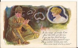 9335. CPA ILLUSTRATEUR ETATS-UNIS IN THE RING OF SMOKE... - Autres