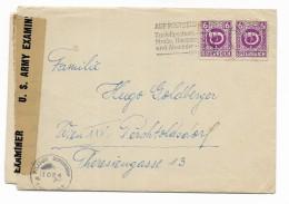 FRANCOBOLLO SU BUSTA 6 GROSCHEN OSTERREICH - U.S. ARMY EXAMINER CON MANOSCRITTO 1945 - Germany