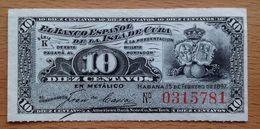 Cuba   10 Centavos 1897,  UNC, Pick 52 - Cuba