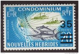 Nouvelles Hebrides, 1970, Fish, MNH Overprint, Michel 296 - New Hebrides - Non Classés