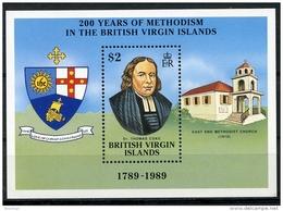 Virgin Islands, 1989, Methodist Church, Religion, MNH, Michel Block 57 - Iles Vièrges Britanniques