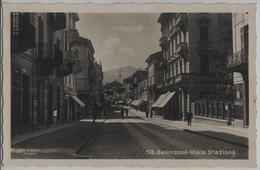 Bellinzona - Viale Stazione - Animee - Photo: Ditta G. Mayr No. 176 - TI Tessin