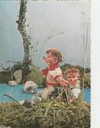 14111) PUPAZZO MECKI MEKI MENTRE PESCA VIAGGIATA 1960 - Mecki