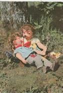14115) PUPAZZO MECKI MEKI CON COMPAGNA VIAGGIATA 1960 - Mecki