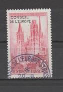 FRANCE / 1958 / Y&T SERVICE N° 16 : Conseil De L'Europe (Cathédrale De Rouen Surchargé CE) - Cachet Rond Conseil - Officials