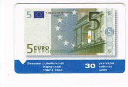 FINLANDIA (FINLAND) - TURUN PUHELIN (MAGNETIC) -  5 EURO BANKNOTE CODE 2031-028257 EXP.12.02 - USED  -  RIF. 9110 - Finlandia