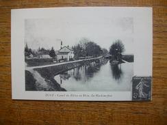 Repro , Cartes D'autrefois , Dôle , Canal Du Rhône Au Rhin , La Machine Fixe - Dole