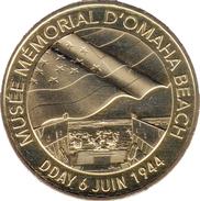 14 CALVADOS SAINT LAURENT SUR MER MUSÉE MÉMORIAL D'OMAHA BEACH WW MÉDAILLE MONNAIE DE PARIS 2017 JETON MEDALS TOKEN COIN - Monnaie De Paris