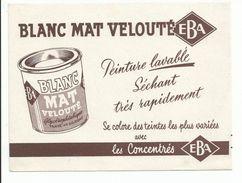BUVARD Publicité PEINTURE EBA - Paints