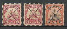 Deutsch - Ostafrica 1901 Michel 13 (2 Ex.) + 15 Handschriftlich Entwertet - Colonie: Afrique Orientale