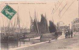 CONCARNEAU   ( 29 ) Le Bassin à Marée Haute - Le Quai Pénéroff  ( Port Gratuit ) - Concarneau