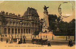 PARIS - COURS DU LOUVRE - MONUMENT DE GAMBETTA - Arrondissement: 01