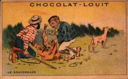 Chocolat Louit - Le Braconnage - Fusil Lapin Chien  - Bill-711 - R/V - Louit