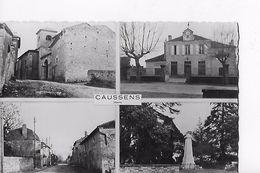 32 / CAUSSENS / L EGLISE / LA MAIRIE / MONUMENT ET ROUTE NATIONALE / CIRC 1961 - Non Classés