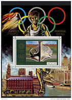 Comoro Islands, Comores, 1976, Olympic Summer Games Montreal, Stadium, MNH, Michel Block 29A - Comores (1975-...)