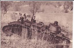 MILITARIA---char De 70 Tonnes Traversant Une Rivière--( Sortie Carnet )---voir 2 Scans - Manoeuvres