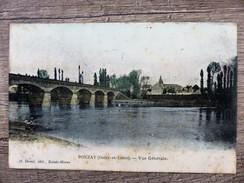 CPA POUZAY Indre Et Loire Vue Générale Circulée Ecrite - Otros Municipios