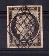 France - 1849 - Cérès N° 3 - Oblitération Grille - TTB - 1849-1850 Ceres