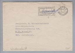 Motiv Blindenschrift 1964-03-18 Bern Portofrei Vermerk Blindenschrift - Timbres