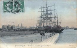 (59) Dunkerque - Le Bassin Freycinet Quai Du Départ - Bateau - Dunkerque