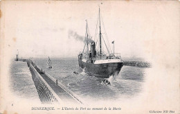 (59) Dunkerque - L'Entrée Du Port Au Moment De La Marée - Bateau - Dunkerque