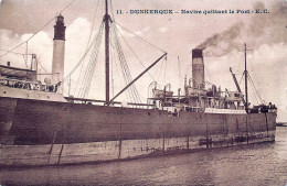 (59) Dunkerque - Navire Quittant Le Port - Marine Bateau - Dunkerque