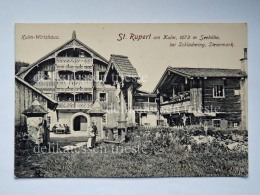 AUSTRIA OSTERREICH St Rupert Am Kulm Wirtshaus Schladming  AK Old Postcard - Schladming