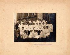Grande Photo Originale Scolaire - Photo De Classe De Jeunes Femmes Berlinoises - Brügge Weg Vers 1930 - Berlin - Personnes Anonymes