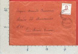 BUSTA VIAGGIATA ITALIA 1968 - Centenario Della Morte Di Gioacchino Rossini - ISOLATO - ANN. MONTALDO TORINESE - 6. 1946-.. Repubblica