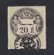 1 Austria Revenue 20 Fl. 1.3.1870 Umschrift Und Jahreszahl Ultramarinblau - Steuermarken