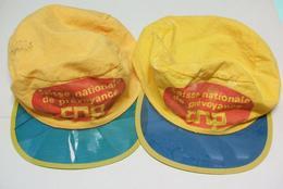 2 CASQUETTES CNP Caisse Nationale De Prévoyance - Casquette 70' Coton - Casquettes & Bobs