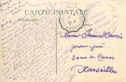 A-17.9583 : CACHET FRANCHISE MILITAIRE. TRAIN SANITAIRE  N° 3. GROUPE 15 BIS. CARTE DE SAINT-SAUVEUR-LE-VICOMTE. MANCHE - Postmark Collection (Covers)