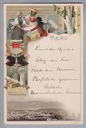 Motiv Schokolade Chocolat Suchard  Menu-Lithokarte Motiv Soleure - Alimentation