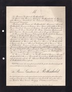 JUDAICA Paris Baron Gustave De ROTHSCHILD 83 Ans 1911 LEONINO LAMBERT DREYFUS SASSOON Lettre Mortuaire - Obituary Notices