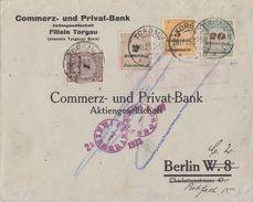 DR Brief Mif Minr.325A,326A,327A,329A Torgau 28.11.23 Novemberbrief Geprüft - Deutschland