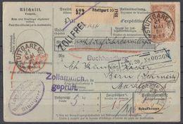 DR Paketkarte Mef Minr.8x 114 Stuttgart 21.5.20 Gel. In Schweiz - Deutschland