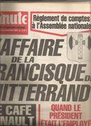 """Journal """"  Minute """" No1139 Du 4 Au 10 Fevrier 1984 Affaire De La Francisque _ Le 6 Fevrier 34 _  40 P Envoi 2,50 - Journaux - Quotidiens"""