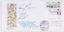 NORTH POLE Drift Station Base Polar ARCTIC Mail Cover USSR RUSSIA Signature - Scientific Stations & Arctic Drifting Stations
