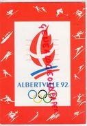 73- ALBERTVILLE 92  AVEC TIMBRE PARCOURS FLAMME OLYMPIQUE - Albertville