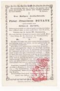 DP Pieter F. Butaye ° Stavele Alveringem 1813 † 1891 X Rosalie Butaye - Devotion Images