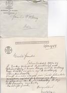 Kuvert + Brief - Vereenigung Tot Bevordering Der Belangen Van Slechthoorenden - Niederlande - 1923  (31079) - Historische Dokumente