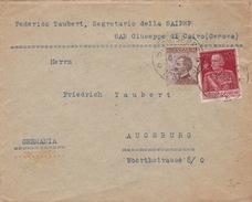 Brief Von San Giuseppe Di Cairo Nach Augsburg - Storia Postale