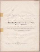 SOMERGEM RONSELE Félicité Baronne De DRAECK Marquise D'ENNETIERES 57 Ans 1855 Famille D'OULTREMONT Faire-part - Décès