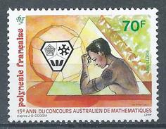 Polynésie Française YT N°437 Concours Australien De Mathématiques Neuf ** - Polynésie Française